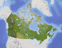 Canada Shaded Relief Digital Map