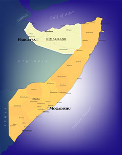 Somalia Wall Map