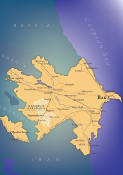 Azerbaijan Wall Map