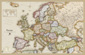 Antique Style Europe Wall Map
