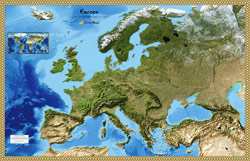 Europe Satellite Wall Map