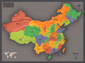 Contemporary China Wall Map