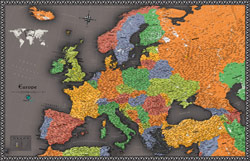 Europe Contemporary Wall Map