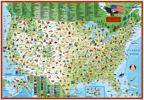 Children's Map of the United States