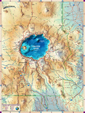 Crater Lake National Park Digital Map