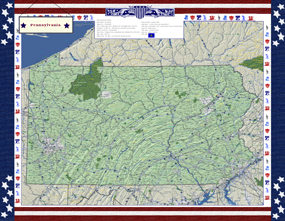 Pennsylvania Americana Wall Map