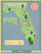Florida Exposition Wall Map