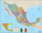 Mexico Deluxe Wall Map