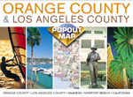 Orange County, California PopOut Street Map