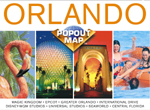 Orlando Disney, Florida PopOut Street Map