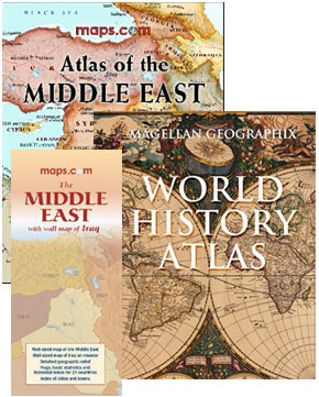 Maps.com Middle East and World History Atlas Pack