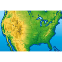 USA - Physical Light Digital Map