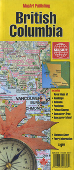 British Columbia Travel Map