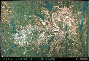 Dallas Ft. Worth Satellite Map