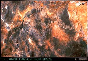 Grand Canyon Satellite Map