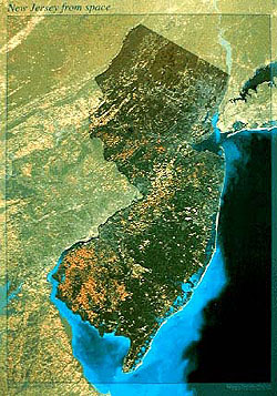 New Jersey Satellite Map