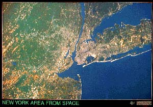 New York City Satellite Map