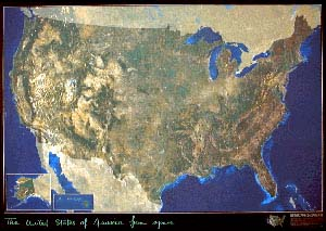 USA Satellite Map