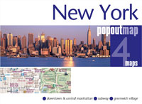 New York City, New York PopOut Street Map