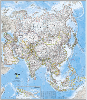 National Geographic Asia Wall Map
