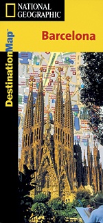 National Geographic Barcelona, Spain Destination Map