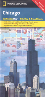 National Geographic Chicago, Illinois Street Map