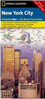 National Geographic New York City, NY Destination Map