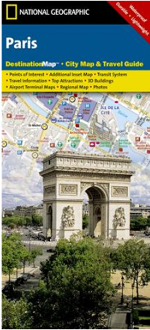 National Geographic Paris, France Destination Map