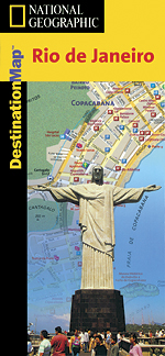 National Geographic Rio De Janeiro Destination Map