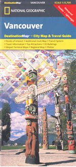 National Geographic Vancouver, BC Destination Map