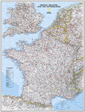 National Geographic France, Belgium, and Netherlands Wall Map