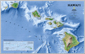 National Geographic Hawaiian Islands Wall Map