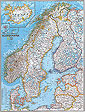 National Geographic Scandinavia with Iceland Wall Map