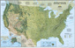 National Geographic USA Physical Map