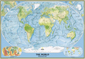 National Geographic Physical World Map