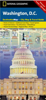 National Geographic Washington, DC Destination Map