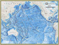 National Geographic Pacific Ocean Floor Wall Map