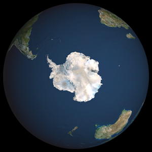 Globe South Pole Satellite Digital Map