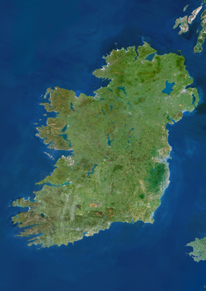 Ireland Satellite Digital Map