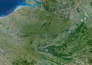 Belgium Satellite Digital Map