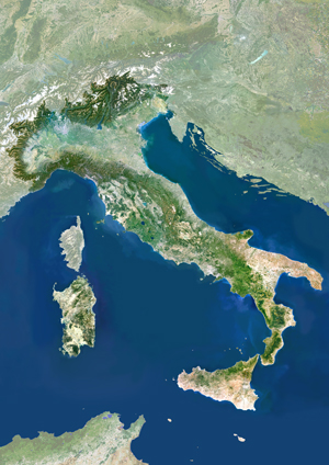 Italy Satellite Digital Map