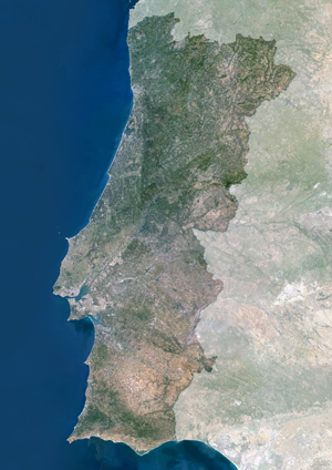 Portugal Satellite Digital Map By Planet Observer From Mapscom - Portugal map satellite
