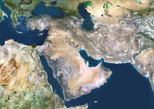 Middle East Satellite Digital Map By Planet Observer From Mapscom - Middle east satellite map