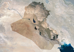 Iraq Satellite Digital Map