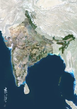 India Satellite Digital Map