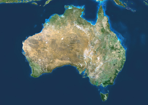 Australia Satellite Digital Map by Planet Observer from Mapscom