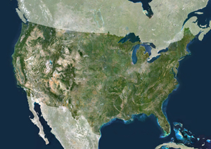 Satellite Map Of Us