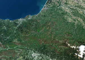 Basque Country, France-Spain Satellite Digital Map