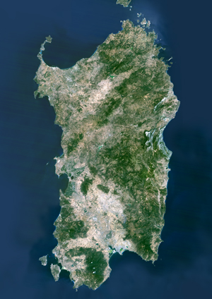 Satellite Map Of Italy