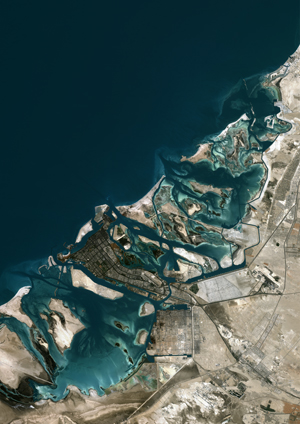 Abu Dhabi, United Arab Emirates Satellite Digital Map